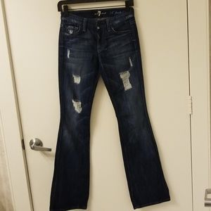 """7 For All Mankind """"A"""" pocket flares size 24"""